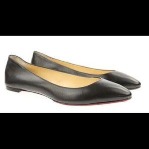 2e25cc1dc58 Christian Louboutin Shoes - Christian Louboutin Black Eloise Nappa Flats EU  41
